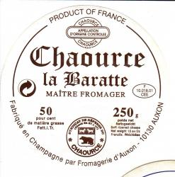 Ancienne etiquette fromagerie auxon chaource 11
