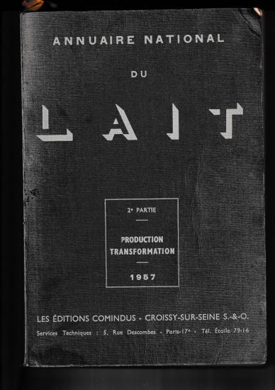 Annuaire du lait 1957