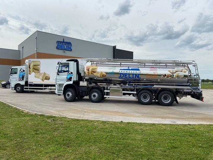 Delin camion de ramassage de lait mai 2020