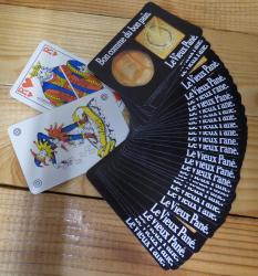 Jeu de cartes vieux pane