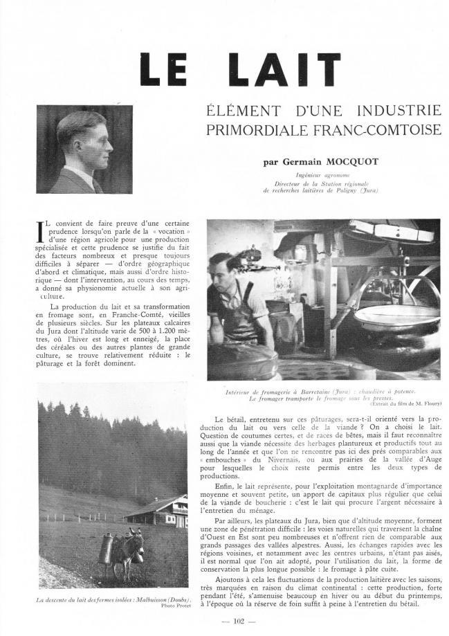 Le lait 1949 1