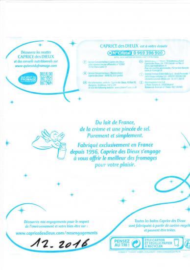 Papier embalage caprice des dieux 11