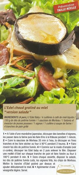 Salade edel chaud au miel