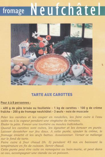 Tarte carottes et neufch tel